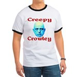 Creepy Crowley Ringer T