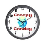 Creepy Crowley Wall Clock