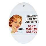 Coffee Killer Ornament (Oval)