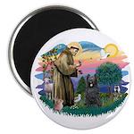 St Francis #2/ Briard (blk) Magnet