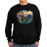 St Francis #2/ Briard (blk) Sweatshirt (dark)