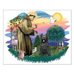 St Francis #2/ Briard (blk) Small Poster