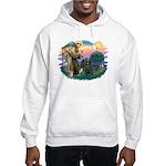 St Francis #2/ Briard (blk) Hooded Sweatshirt