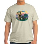 St Francis #2/ Briard (blk) Light T-Shirt