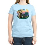 St Francis #2/ Briard (blk) Women's Light T-Shirt