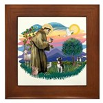 St Francis #2/ Boston Ter Framed Tile