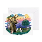 St Francis #2/ Boston Ter Greeting Cards (Pk of 20