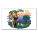 St Francis #2/ Boston Ter Sticker (Rectangle)