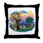 St Francis #2/ Boston Ter Throw Pillow