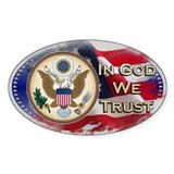 In God We Trust - Oval Decal