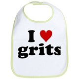 I Heart Grits Bib