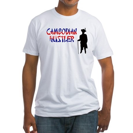 Cambodian Hustler Fitted T-Shirt