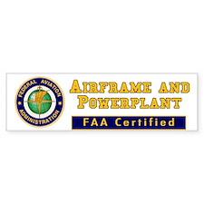 FAA Certified A & P Mechanic Bumper Sticker