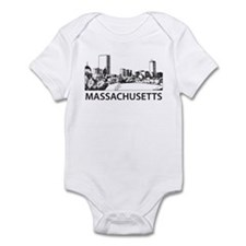 Massachusetts Skyline Infant Bodysuit