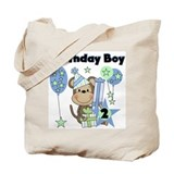 Monkey 2nd Birthday Tote Bag