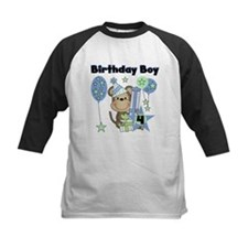 Monkey 4th Birthday Tee