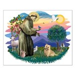 St Francis #2/ Cairn Ter Small Poster