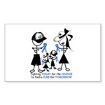 Prostate Cancer Awareness Sticker (Rectangle 50 pk