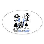 Prostate Cancer Awareness Sticker (Oval 10 pk)