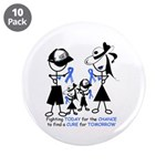 "Prostate Cancer Awareness 3.5"" Button (10 pac"