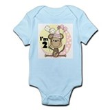 Girl Monkey 2nd Birthday Infant Bodysuit