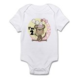 Girl Monkey 2nd Birthday Onesie