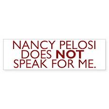 Nancy Pelosi Does NOT Speak F Bumper Sticker