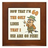 Hilarious Fishing 60th Birthday Framed Tile