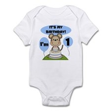 Boy Monkey 1st Birthday Infant Bodysuit