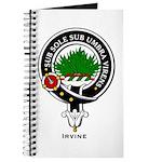 Irvine Clan Crest Badge Journal