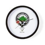 Irvine Clan Crest Badge Wall Clock