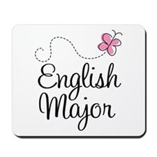 Cute English Major Mousepad