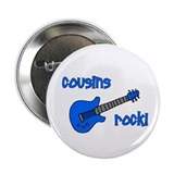 "Cousins Rock! Blue Guitar 2.25"" Button"