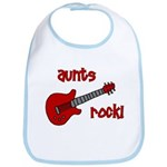 Aunts Rock! Red Guitar Bib