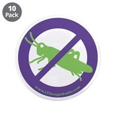 "No Grasshoppers 3.5"" Button (10 pack)"