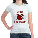 My Dad is the Drummer (drums) Jr. Ringer T-Shirt