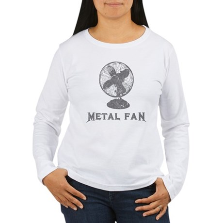 Metal Fan Womens Long Sleeve T-Shirt