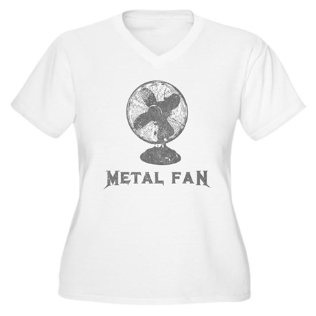 Metal Fan Plus Size V-Neck Shirt