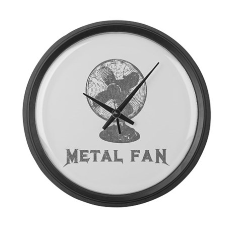 Metal Fan Large Wall Clock