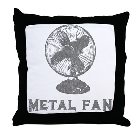 Metal Fan Throw Pillow