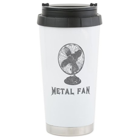 Metal Fan Ceramic Travel Mug