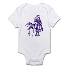 Alice with Fawn Purple Infant Bodysuit