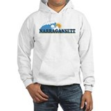 Narragansett RI - Waves Design Hoodie