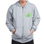 Earth Day Swirls Zip Hoodie