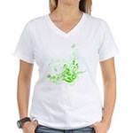 Earth Day Swirls Women's V-Neck T-Shirt