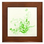 Earth Day Swirls Framed Tile