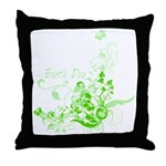 Earth Day Swirls Throw Pillow