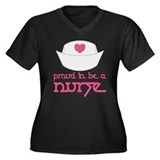 Proud To Be A Nurse Women's Plus Size V-Neck Dark