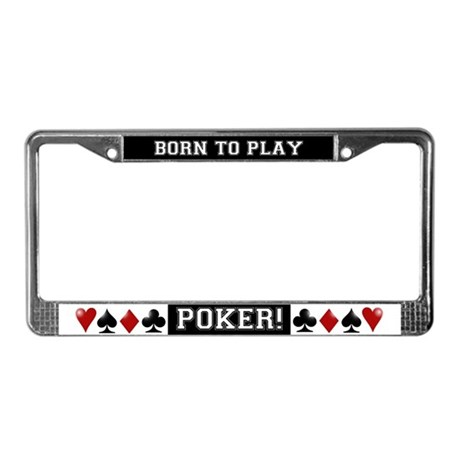 Born to Play License Plate Frame
