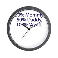 100% Wyatt Wall Clock